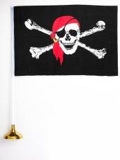 Флажок настольный Пиратский фото