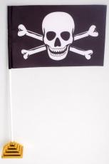Флажок настольный Пиратский «с костями» фото