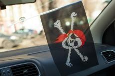 Флажок с присоской Пиратский фото