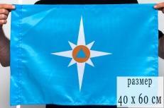 Флаг «МЧС» 40x60 см фото
