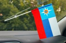 Флажок в машину с присоской МЧС Триколор фото