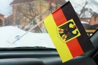 Флажок в машину с присоской Германия