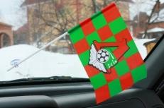 Флажок в машину с присоской Локомотив клетка фото