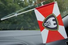 Флажок в машину с присоской Московский округ ВВ МВД фото