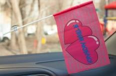 Флажок в машину с присоской Я тебя люблю фото
