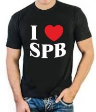 """Футболка стрейч """"I love SPB"""" фото"""