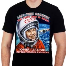 """Футболка """"Юрий Гагарин"""" """"Первый человек в космосе"""" фото"""