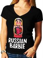 "Футболка женская ""Russian Barbie"""