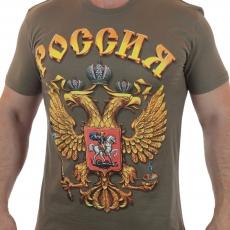Футболка Россия с гербом фото