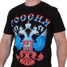 Футболка с гербом России фото