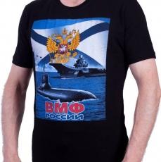 Футболка ВМФ «С нами Бог и  Андреевский флаг» фото