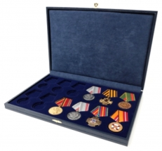 Футляр для 12 медалей на пятиугольной колодке D-37 мм  фото