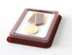 Футляр для медали d-32 мм с удостоверением фото