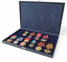 Футляр универсальный на 12 ячеек (под медали, ордена)  фото