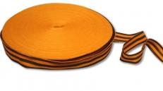 Георгиевская лента на бобине (35 мм х 100 м) фото