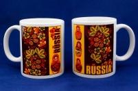 Кружка RUSSIA «Матрёшки»