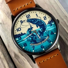 Кварцевые часы «Лучшему рыбаку» фото