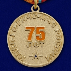"""Медаль """"75 лет Гражданской обороне"""" МЧС фото"""