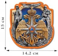 "Наклейка на авто ""Эмблема МЧС"""