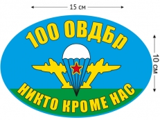 Наклейка на авто «Флаг 100 ОВДБр ВДВ» фото