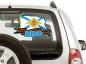 "Наклейка на авто ""Флаг ВМФ"" фотография"