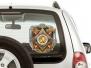 """Наклейка на авто """"100 лет Вооруженным силам"""""""