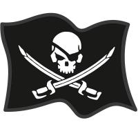 """Наклейка """"Пиратский флаг"""""""