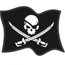 """Наклейка """"Пиратский флаг"""" фото"""