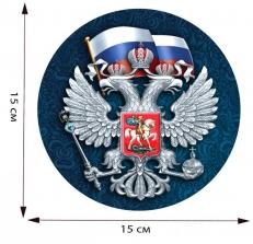 Наклейка с гербом России на авто фото