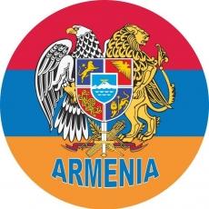 Наклейка флаг Армении фото