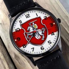 Наручные часы с бело-красно-белым флагом Беларуси  фото