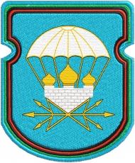 """Нарукавная нашивка """"731 отдельный батальон связи 106 ВДД"""" фото"""