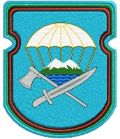 """Нарукавный знак ВДВ """"629-й отдельный инженерно-сапёрный батальон 7-ой ДШД"""""""