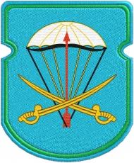 """Нарукавный знак ВДВ """"91 отдельный десантно-штурмовой батальон"""" фото"""