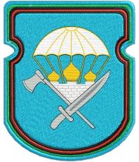 """Нашивка """"388-й отдельный инженерно-сапёрный батальон 106-ой ВДД"""" фото"""