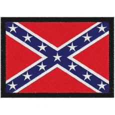 Нашивка байкера «Флаг Конфедерации» фото