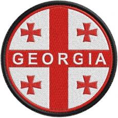 Нашивка флаг Грузии фото