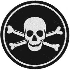 """Нашивка """"Пират кости"""" фото"""