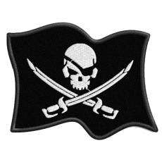 """Нашивка """"Пиратский флаг"""" фото"""