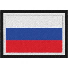 Нашивка Российский триколор фото