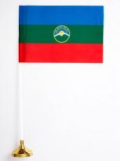 Настольный флаг Республики Карачаево-Черкесия фото