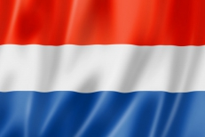 Двухсторонний флаг Голландии фото