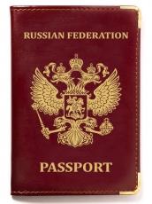 Обложка для паспорта с тиснением герба РФ фото