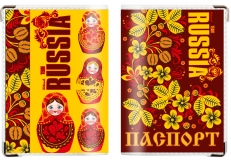 Обложка на паспорт RUSSIA «Матрёшки» фото
