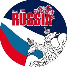 Наклейка RUSSIA «Двуглавый орёл» фото