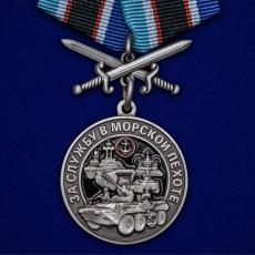 """Памятная медаль """"За службу в Морской пехоте"""" фото"""