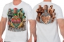 Белая футболка к 100-летию Пограничных войск России