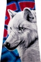 """Полотенце с древнерусским рисунком """"Белый волк Коловрат"""""""