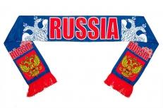 Шарф шёлковый RUSSIA «Двуглавый орёл» фото