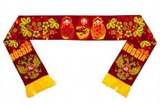 Шелковый шарф с русскими узорами фото